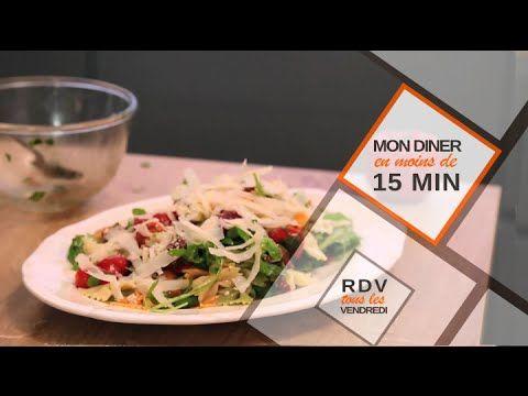 Salade de pâtes en moins de 15 minutes en vidéo