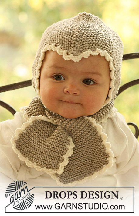 Baby hat scarf - not crazy about the look of the hat (and it's a bit girly) but the hat-scarf combo would be brilliant for winter.