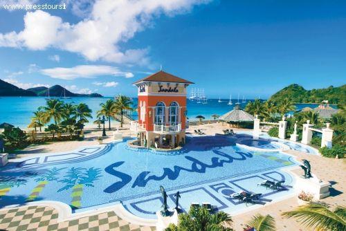 Gros Islet (St. Lucia): cittadina turistica per balneazione e per sport acquatici