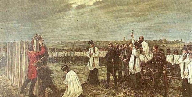 Az aradi vértanúk kivégzése