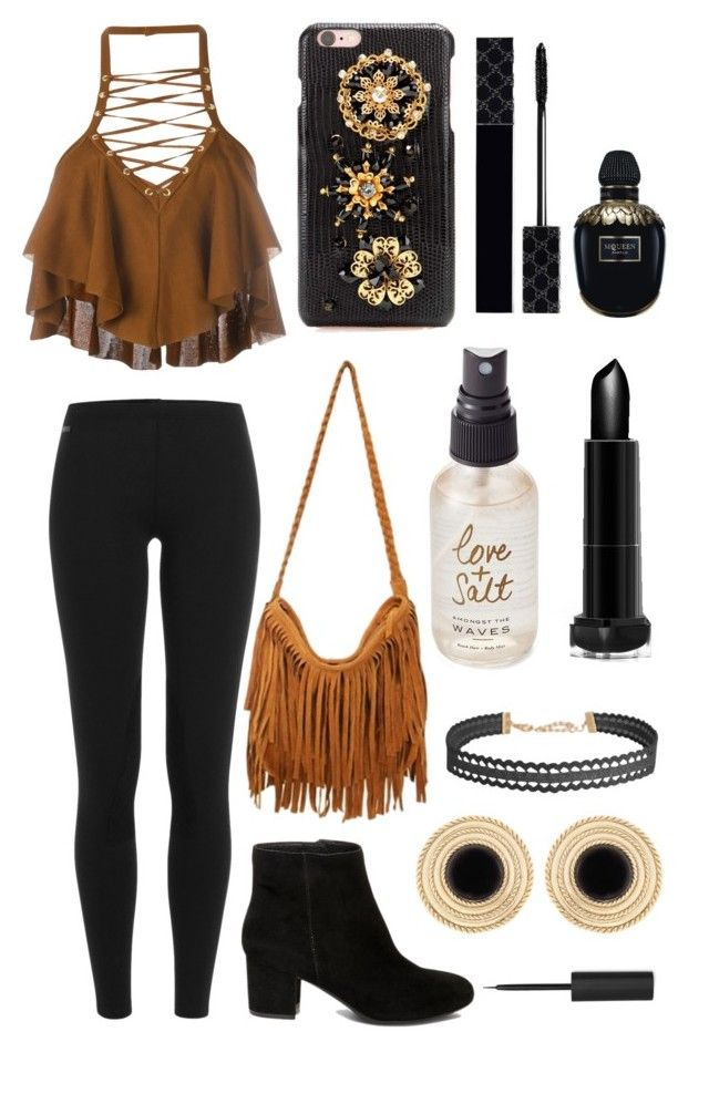 """""""""""Fall""""ing in love❤️"""" by diyloving on Polyvore featuring Balmain, Polo Ralph Lauren, Steve Madden, Dolce&Gabbana, Humble Chic, Olivine, Gucci and Alexander McQueen"""