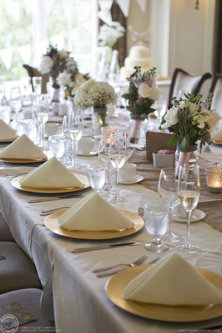 Head table details at the Oakville Golf Club. Oakville wedding photographer #sweetheartempirephotography