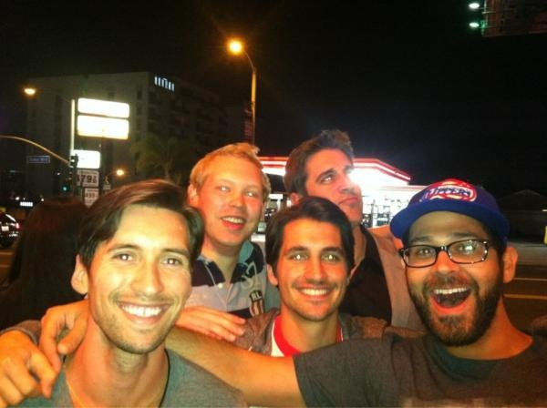 Aaron Rodgers photobomb; photo taken by Clay Matthews after DWTS.