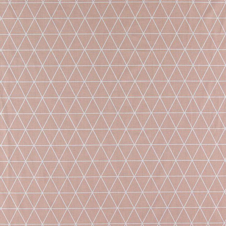815409 Bomuld rosa m hvid trekanter