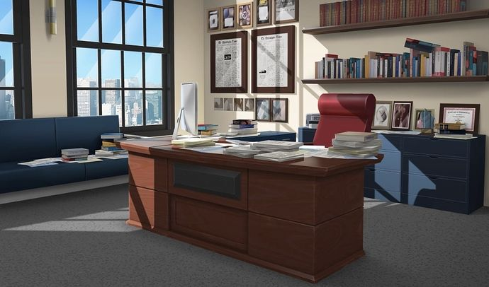 Pin By Razan Ehab On Toonz3 Living Room Background Anime Background Episode Interactive Backgrounds Business office office room background