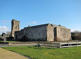 Le château médiéval de Regnéville,Manche Basse Normandie,France.