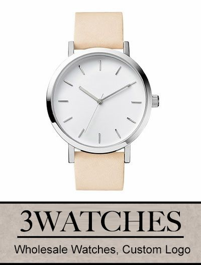 #Thehorse Wholesale Watches. Custom Logo. Polished Steel/White Face/Vegetable Tan. Visiting: http://www.3watches.com/horse-watch/