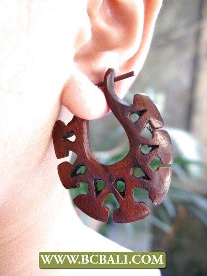 Bcbali wooden piercings