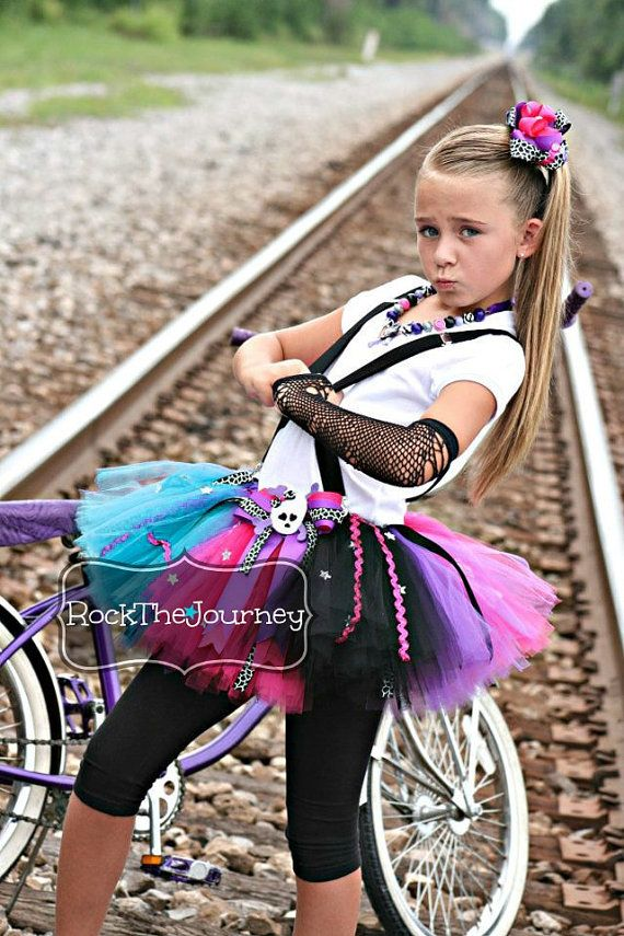 Perfect for Rock and Roll, 80s, Retro, Pirates, Skulls, Monster High, and Rock Star Birthday Parties and events Includes the Tutu Skirt w/Tutu