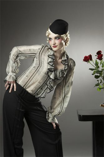 Bauhaus Blouse and Empire State Trousers