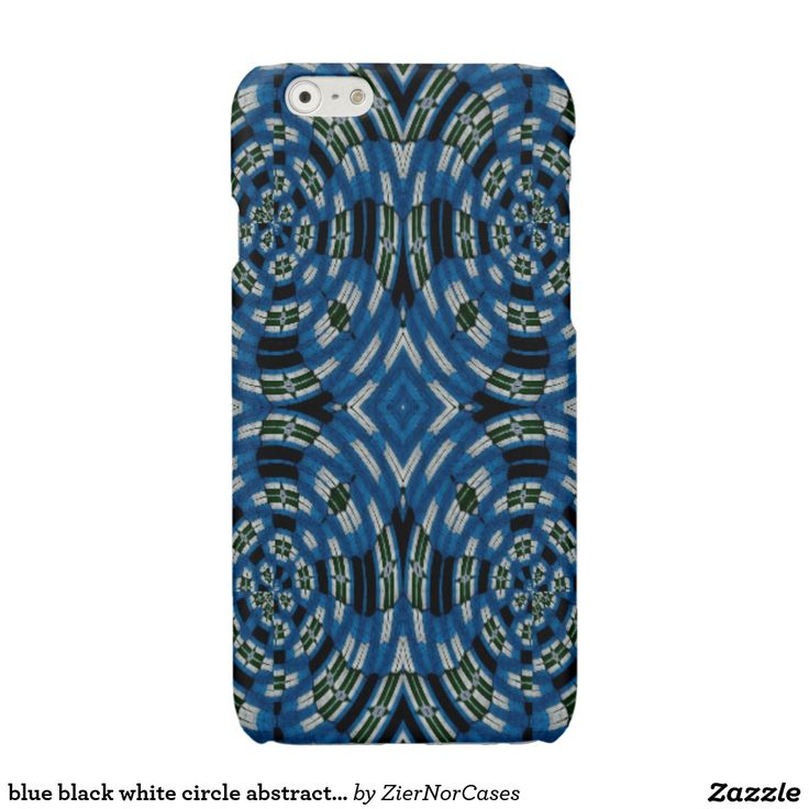 blue black white circle abstract pattern glossy iPhone 6 case