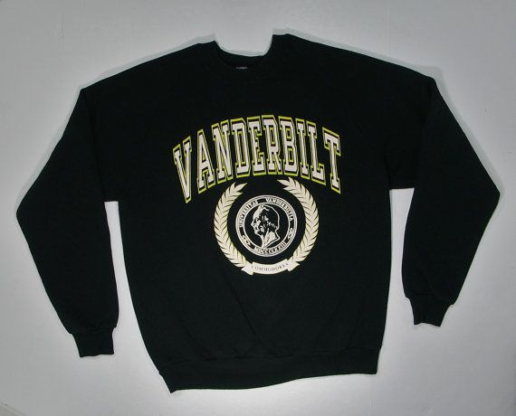 This is a very cool vintage 1980s era sweatshirt from Vanderbilt University in Tennessee - this sweatshirt is in good shape with slight wear