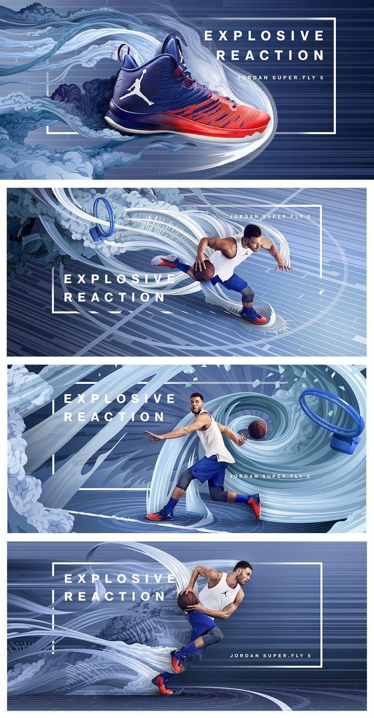 coole explosive Reaktion Schuhe Sport poster design