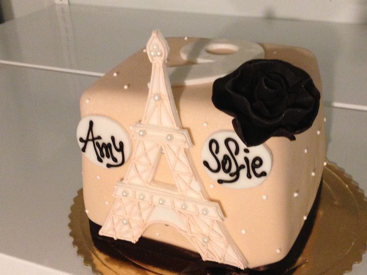 Dětský dort s motivem Francie.