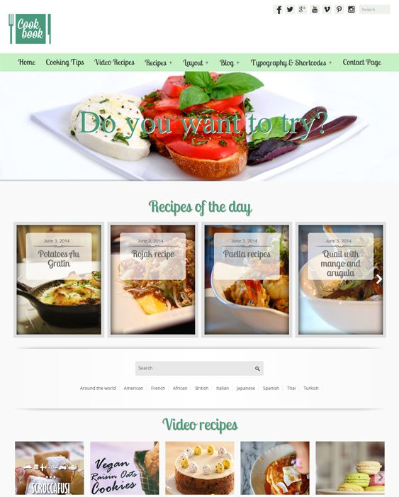 10 best 10 more of the best wordpress themes for food recipe 9 of the best wordpress themes for food recipe cooking baking websites forumfinder Gallery