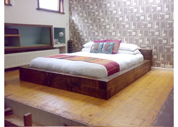 Super King Size Bed by TheCoolWoodCompany on Etsy, £645.00