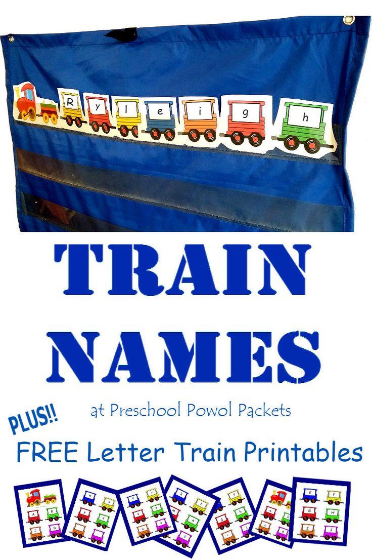 Alphabet train coloring - Train Names Free Train Alphabet Preschool Printable