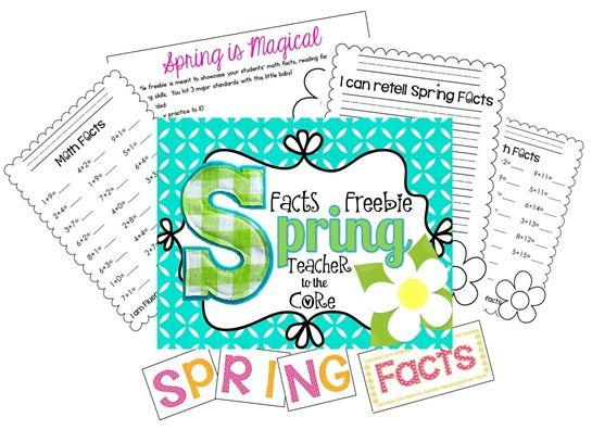 Spring Facts FREEBIE from Teacher To The Core @katiehappymom