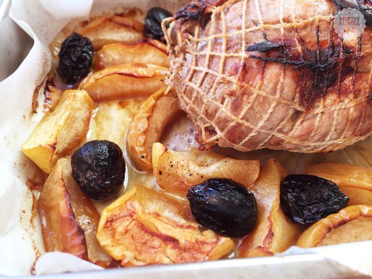 Arrosto di maiale con mele e prugne