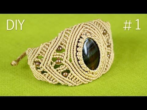 Pulseras macramé rombos bicolor nudos corredizos bracelets with diamonds - YouTube
