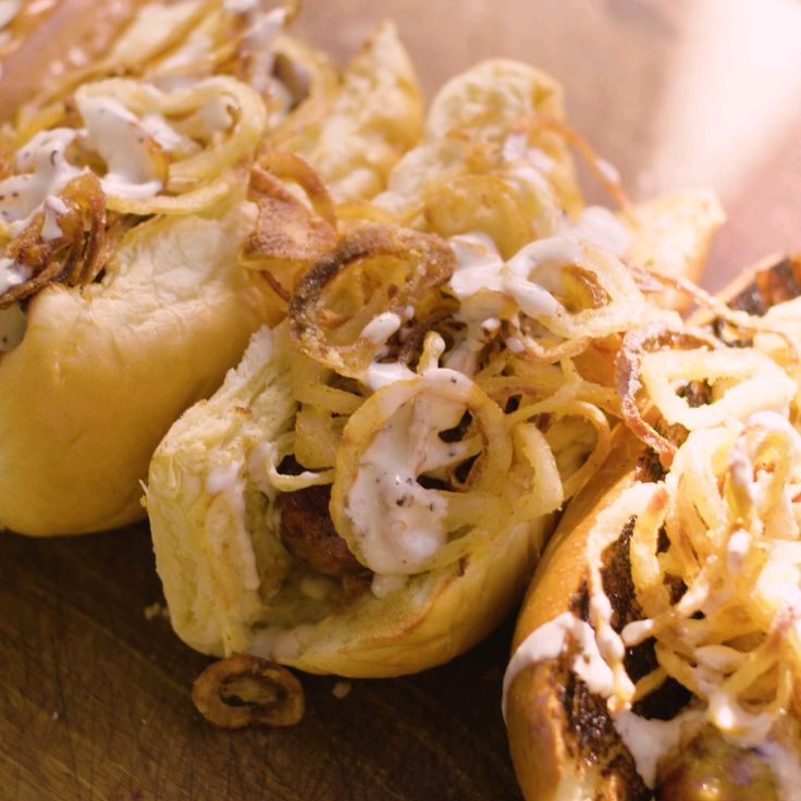 Make Crispy Onions For Your Hot Dogs.