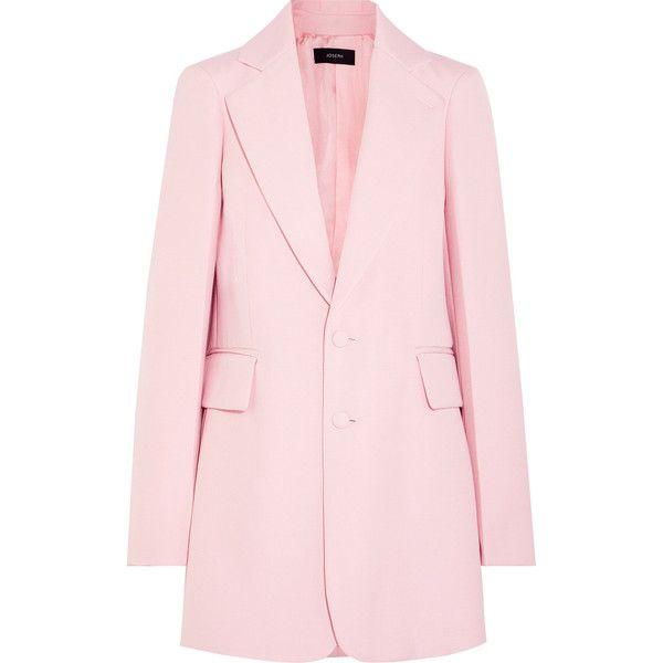 Joseph Enden oversized twill blazer ($895) ❤ liked on Polyvore featuring outerwear, jackets, blazers, baby pink, tailored blazer, pink blazer, structure jacket, twill jacket and pink jacket