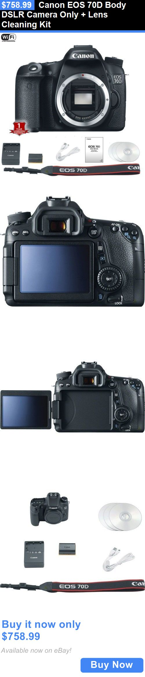 photo and video: Canon Eos 70D Body Dslr Camera Only + Lens Cleaning Kit BUY IT NOW ONLY: $758.99