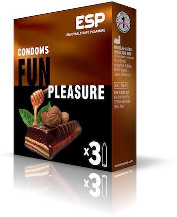 Fun Pleasure: Τα προφυλακτικά με άρωμα σοκολάτας, amaretto & καραμέλας, προσθέτουν ένα νέο επίπεδο φαντασίας και παιχνιδιού στην ερωτική σας ζωή.