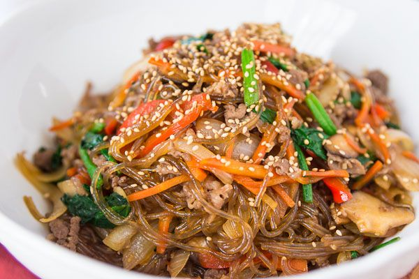 Japchae Recipe | Vegetables, Stir fry and Fried sweet potato