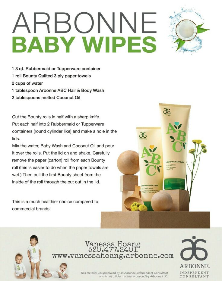 Diy vegan baby wipes. To purchase your arbonne baby care products check out www.tierracaldwell.arbonne.com for more info! #arbonne #plantbased #veganskincare