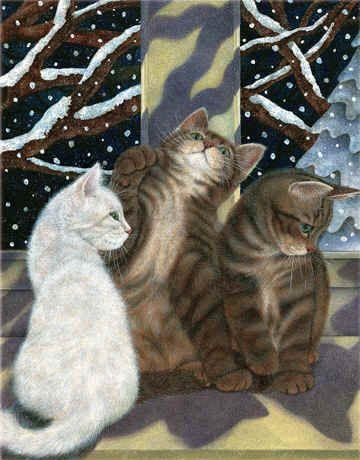 Snow Kittens...Anne Mortimer
