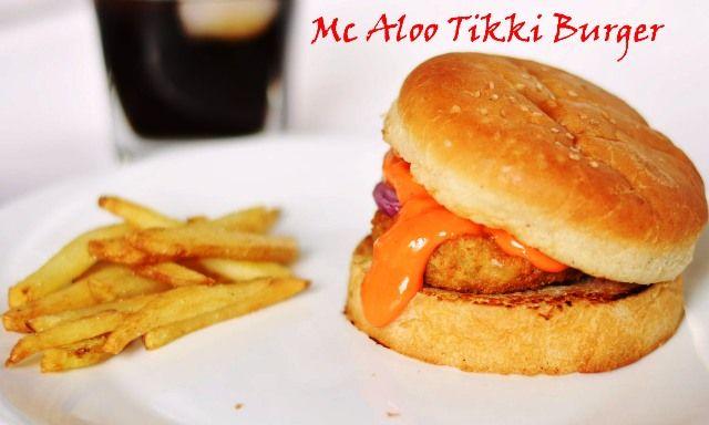 Mc Donald Style Aloo Tikki Burger/ How to make Mc Aloo Tikki Burger Lets feast on #McAlooTikki #burger with #coke on the rocks #vegburger #kidsfavorite #foodie  Recipe at : www.annapurnaz.in