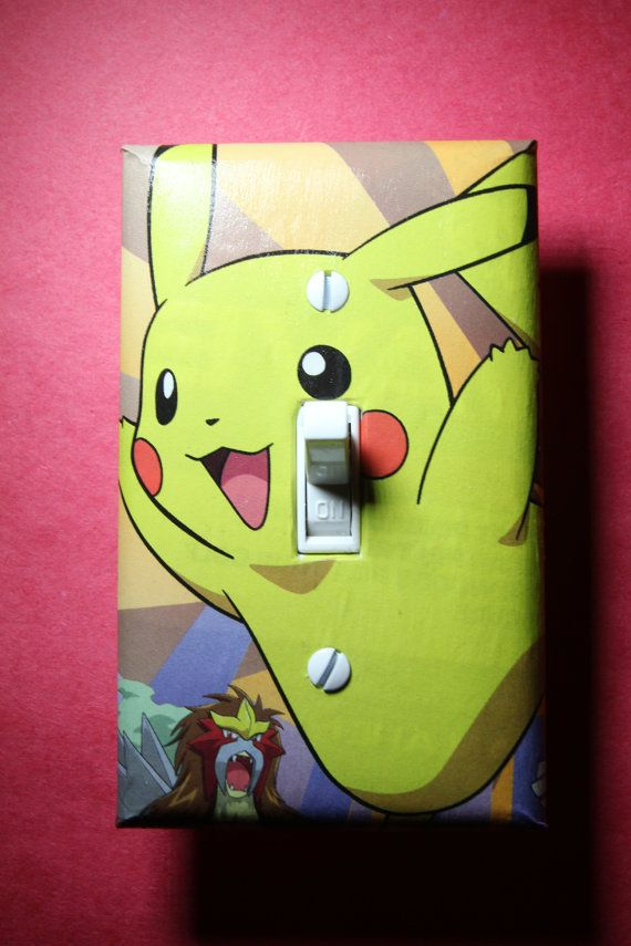 Pokemon Pikachu Light Switch Plate Cover gamer by ComicRecycled