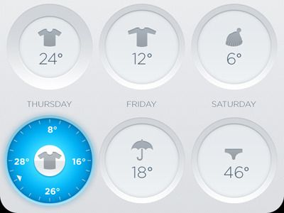 Clean interface designed for weather apps