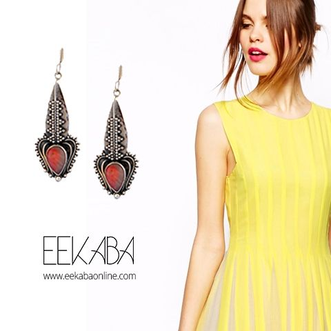 Try this Pink Opal earring with your cocktail dress for a party and you are good to go. This abstract design of the earring will give you a unique look everywhere.