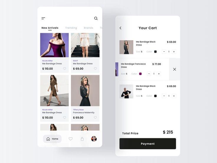 Fashion store app design figma app freebie freebiesui