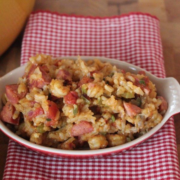 Crawfish And Sausage Jambalaya  (one of our old favorites - we just replace the crawfish with more sausage)