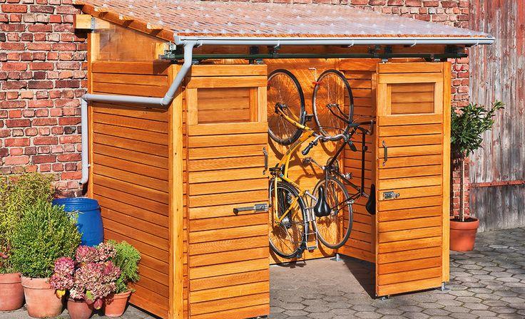 die besten 25 fahrradschuppen holz ideen auf pinterest fahrradhaus m llplatz und outdoor. Black Bedroom Furniture Sets. Home Design Ideas