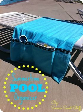 Pool Chair Organizer - www.sumossweetstuff.com #sewing