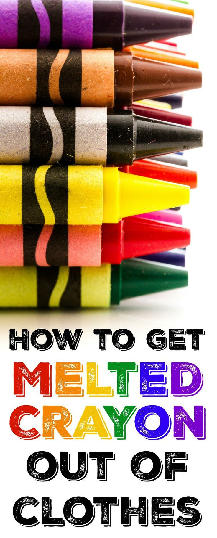 How to get melted crayon out washed and dried clothes