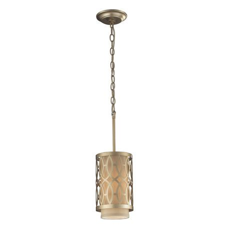 Inspired From A Historic Architectural Design Motif, The Overlapping Pattern Is Used In A Variety Of Ways To Properly Balance Each Piece In The Collection. The Series Has A Rich Aged Silver Finish And Beige Fabric Shades For A Quintessential Modern-Traditionalist Style. Includes An Adapter Kit To Allow For Easy Conversion Of A Recessed Light To A Pendant