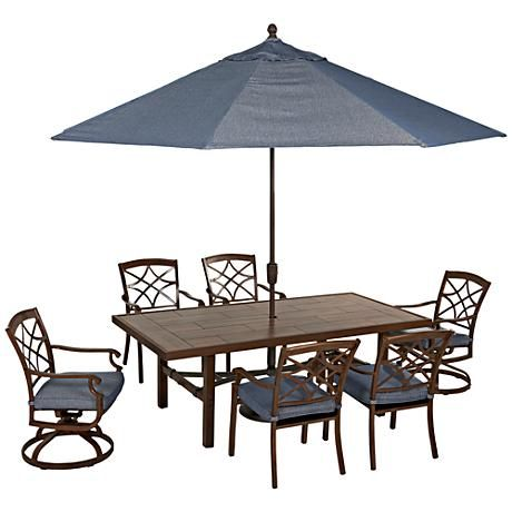 From the Trisha Yearwood Collection at Klaussner Home Furnishings comes a stylish and functional 11' traditional outdoor umbrella.