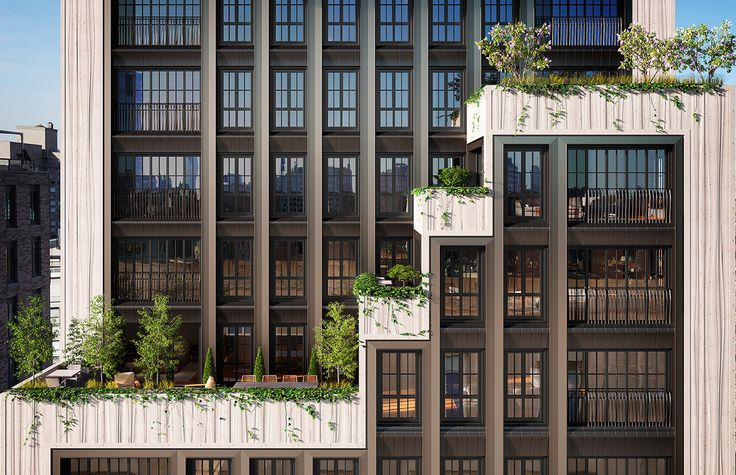 The building's thoughtfully designed cascading terraces allow residents to immerse themselves in the surrounding city, while still maintaining a sense of privacy—of being fully at home.
