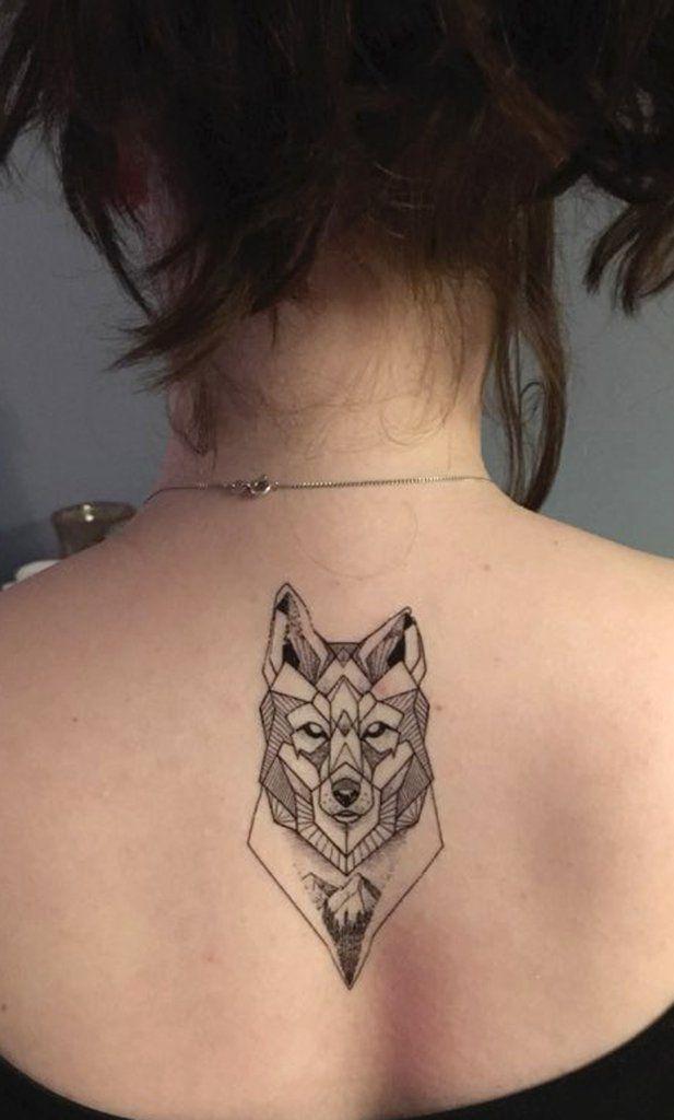 geometric wolf tattoo ideas