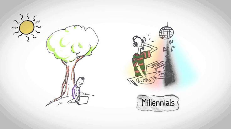 Extraordinario #Cortometraje #Animado sobre el #empleo: Tu Trabajo #Ideal, ¿Quieres conocer cómo ha cambiado el mundo del trabajo?. Hoy, el mercado de #trabajo se ha convertido en un #mercado real. Los Millennials, o Gen Y, son los abanderados de una nueva concepción del trabajo, buscan que el trabajo tenga coherencia con su #proyecto de #vida