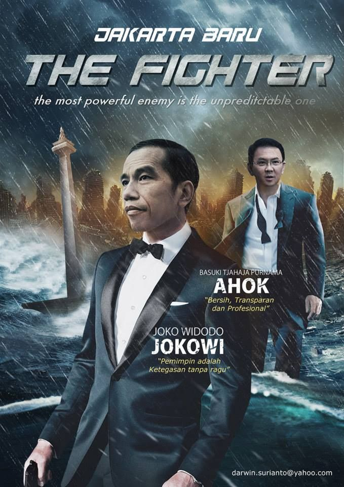 Jokowi and Ahok on Jakarta Baru The Fighter