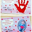 Handprint Valentine's Day Cards - Blowing Kisses Your Way