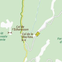 Carte détaillée Col de la Machine - plan Col de la Machine - ViaMichelin