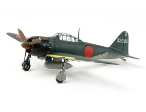 The Tamiya A6M5 Zero Zeke in 1/72 scale is a plastic model kit in the Tamiya 1/72 Aircraft range. The Mitsubishi A6M Zero was the Japanese Navy's main fighter throughout the Pacific Theater during WWII. It defended Japan against overwhelming numbers of superior U.S. aircraft up until the very last day of the war.