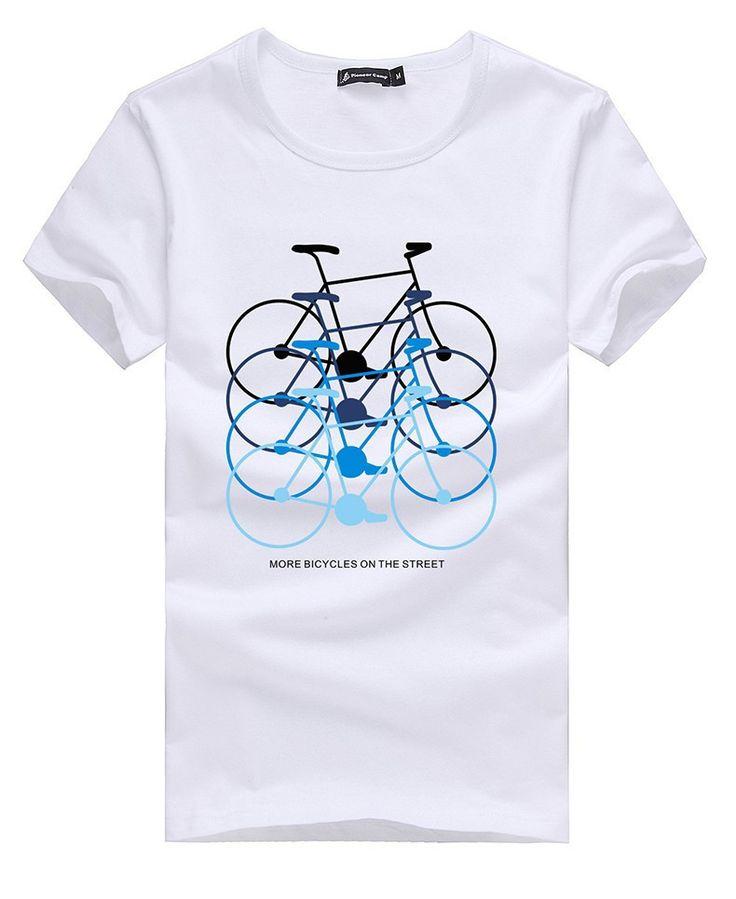 T Shirts : Pioneer Camp Men's Cotton T Shirt White